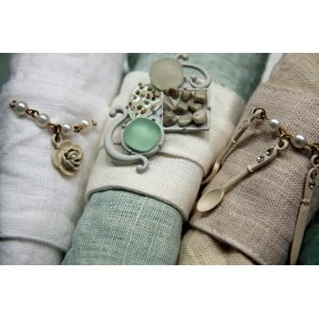 Декоративные пряжки на кольца для салфеток Аква