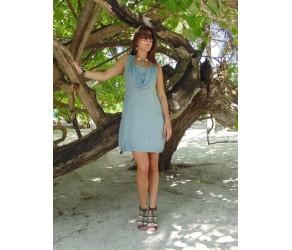 Платье  льняное с отделкой кружевом Chez Moi арт. ACPLS