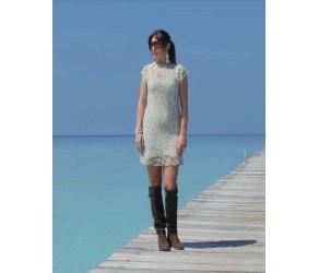 Платье  кружевное, юбка из джерси Chez Moi  арт. ACV