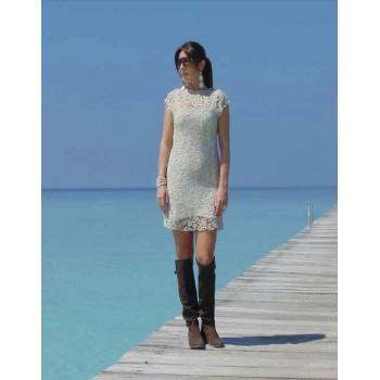Платье  кружевное, юбка из джерси Chez Moi