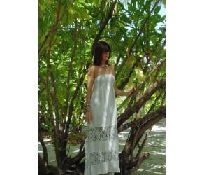 Длинное платье из кружева макраме Chez Moi  арт. ALIV