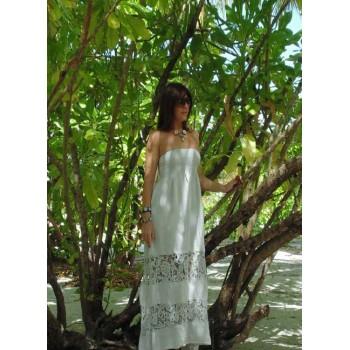 Длинное платье из кружева макраме Chez Moi