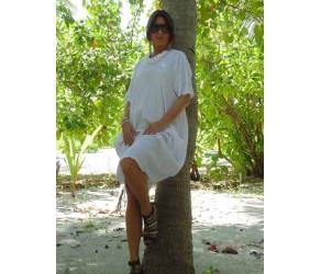 Платье с декольте из мягкого льна Chez Moi  арт. ACOMMRS