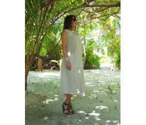 Платье  льняное с отделкой кружевом Chez Moi арт. ASOPV