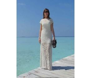 Длинное платье из кружева макраме Chez Moi  арт. ALV
