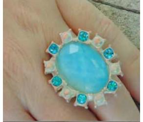 Кольцо Chez Moi Tahiti Aquamarine арт.B201BG